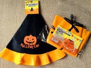 100円ショップで買ったかぼちゃ柄衣装