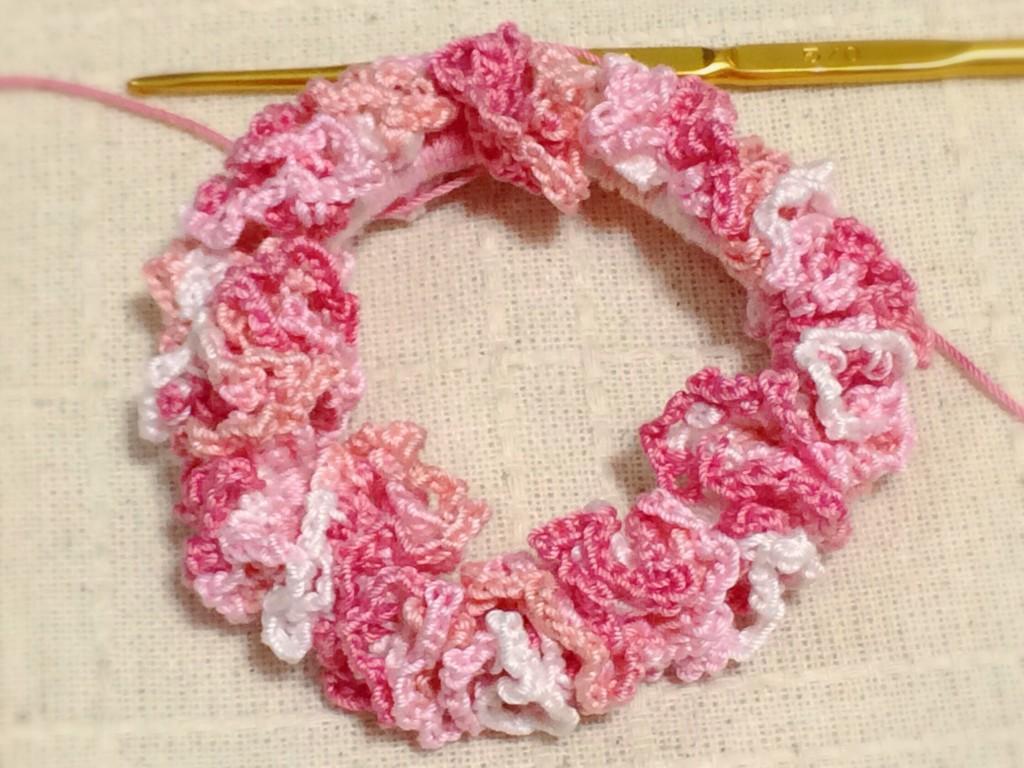 フェリシモ かぎ針編みシュシュ