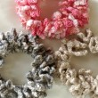 フェリシモ「クチュリエ」のかぎ針編みシュシュ