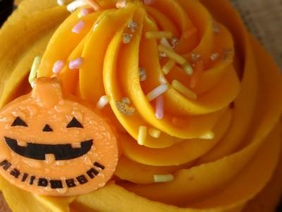 ローソンのパンプキンカップケーキ(ハロウィン)