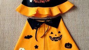 もうすぐハロウィン!100円ショップで簡単手作り衣装〜かぼちゃ柄編〜
